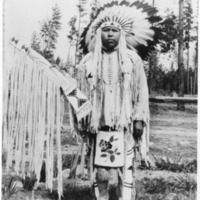 Indians -- Portraits -- Andrews, Willie -- Spokane Indian (#03)